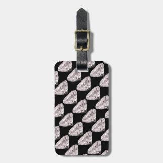 shaped diamonds pattern luggage tag