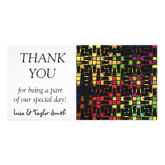 Shapes abstract design photo card template