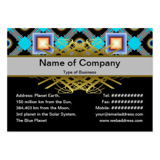 Shapes Large Business Cards (Pack Of 100)