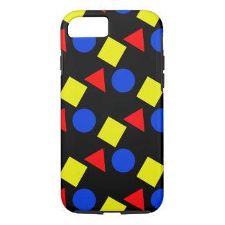 Shapes in Primary Colors on iPhone 7 Case