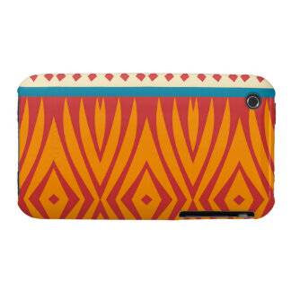 Shapes in retro colors iPhone 3 cover