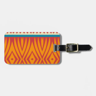 Shapes in retro colors luggage tag