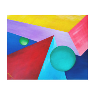 Shapes in Space Canvas Print