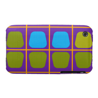 Shapes in squares pattern Case-Mate iPhone 3 cases
