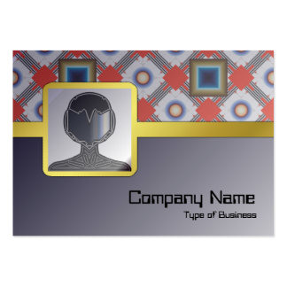 Shapes Inverted Large Business Card