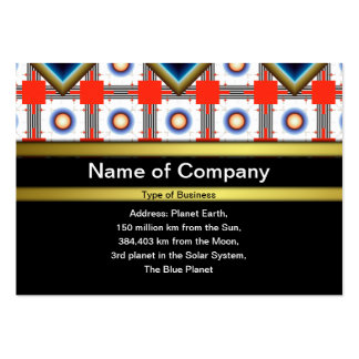 Shapes Inverted Rotated Pack Of Chubby Business Cards