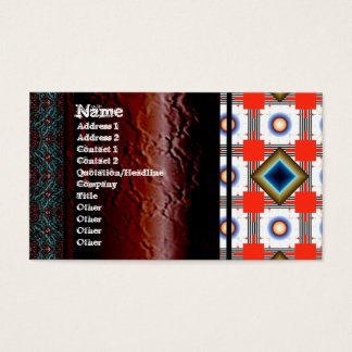 Shapes Inverted Rotated Business Card