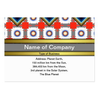 Shapes Inverted Rotated Large Business Card