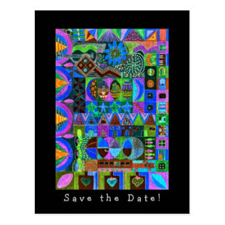 Shapes Mosaic  Save  the  Date! Postcard