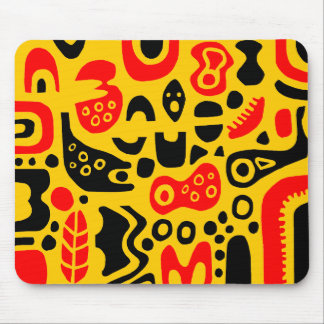 Shapes - On Amber Mouse Pad