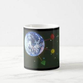 Shapes over Earth. (earth_Space Scenes Coffee Mug