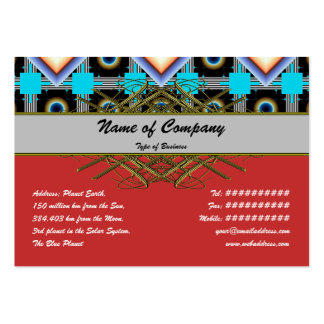 Shapes Rotated Large Business Card