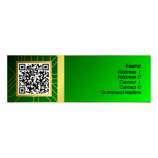 Shapes Rotated Mini Business Card
