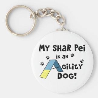 Shar Pei Agility Dog Keychain