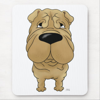 Shar-Pei - Big Nose and Butt Mouse Pad