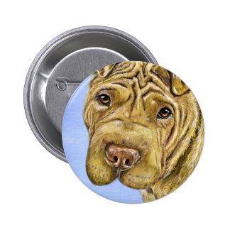 Shar Pei Dog Art - Aspen 2 Inch Round Button