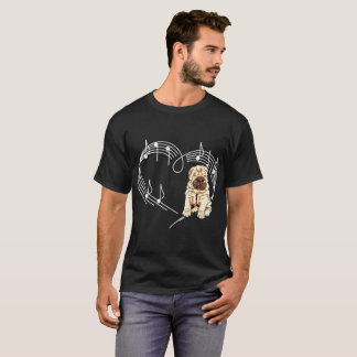 Shar Pei Dog Love Rhythm Heartbeats Tshirt