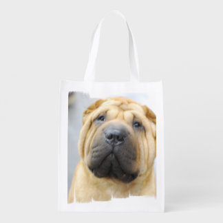 Shar Pei Dog Reusable Grocery Bag
