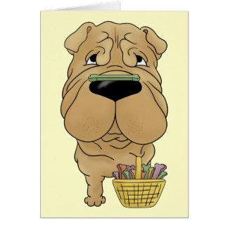 Shar-Pei - Easter Bone Hunt, Anyone? Card