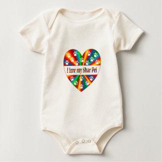 Shar Pei Love Baby Bodysuit
