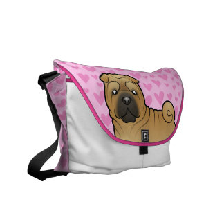 Shar Pei Love Courier Bags