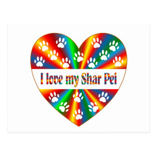 Shar Pei Love Postcard