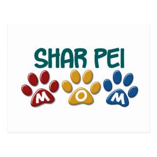 SHAR PEI Mom Paw Print 1 Postcard