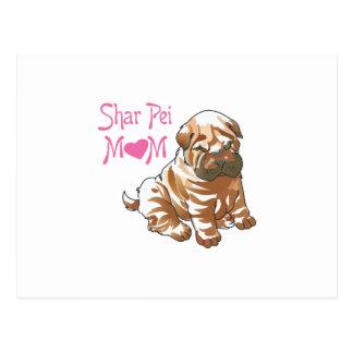 SHAR PEI MOM POST CARD