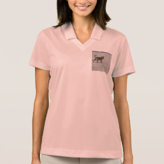 shar pei on beach polo shirt