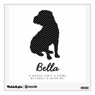 Shar Pei Personalized Wall Decal