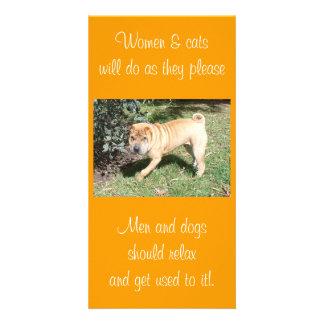 Shar Pei Rescue Blank CArd Customized Photo Card