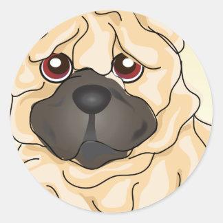 Shar Pei Round Sticker