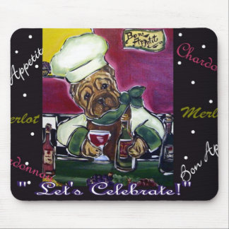 Shar-Pei Wine Chef Mouse Pad