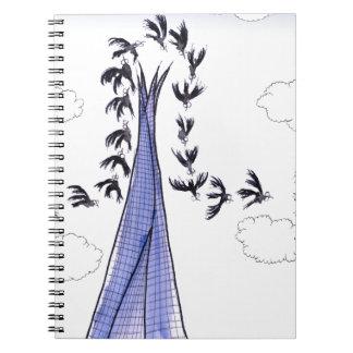 ShardArt Blue Skies by Tony Fernandes Notebooks