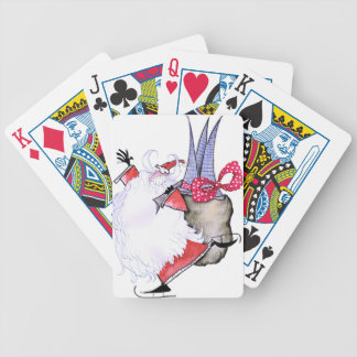 ShardArt Fat Santa by Tony Fernandes Bicycle Playing Cards
