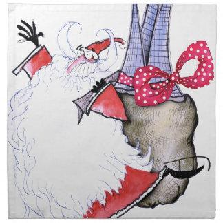 ShardArt Fat Santa by Tony Fernandes Napkin