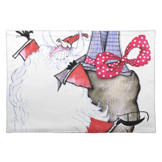 ShardArt Fat Santa by Tony Fernandes Placemat