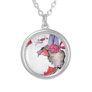 ShardArt Fat Santa by Tony Fernandes Silver Plated Necklace