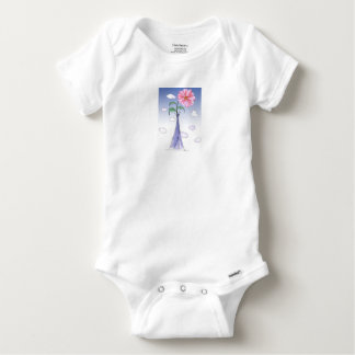 ShardArt Flower Power by Tony Fernandes Baby Onesie