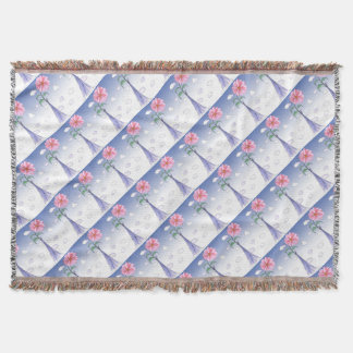 ShardArt Flower Power by Tony Fernandes Throw Blanket