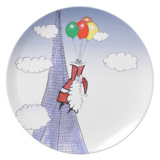 ShardArt Happy Christmas by Tony Fernandes Plate