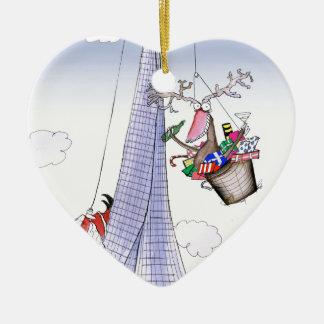 ShardArt Heave-Ho by Tony Fernandes Ceramic Heart Ornament