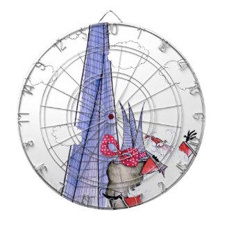 ShardArt Xmas Santa by Tony Fernandes Dartboard