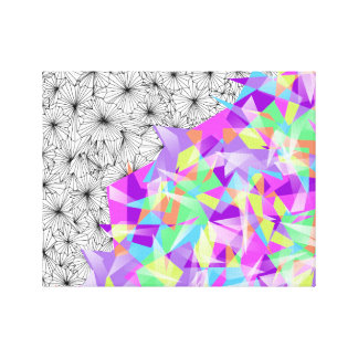 Shards of Contrast Canvas Print