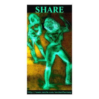 """SHARE"" Custom Fine Art Photocard Photo Card"