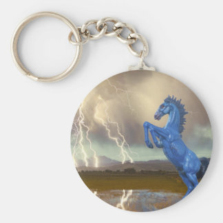 Share Favorite DIA Mustang Bronco Lightning Stor Basic Round Button Keychain