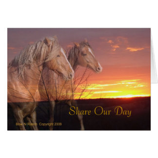 Share Our Day Wedding Horse Couple Card