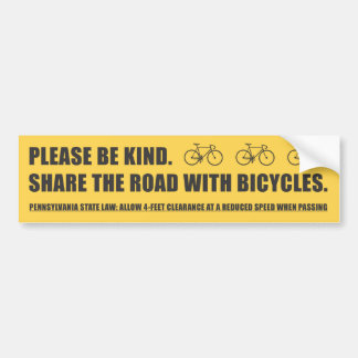 Share The Road Bicycle Safety Sticker