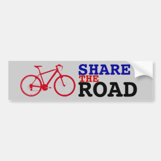 share the road ~ biking bumper sticker