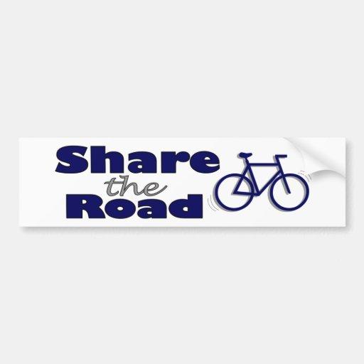 Share The Road Car Bumper Sticker